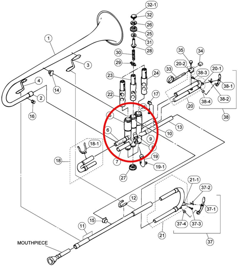 A2L30507 yamaha trumpet parts mouthpiece express