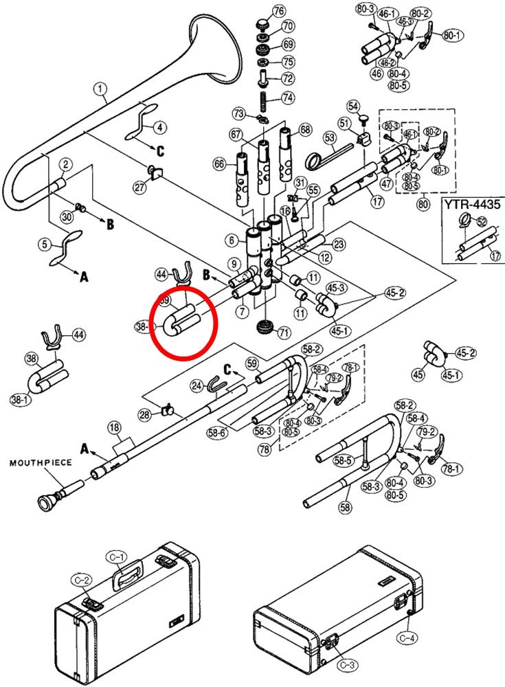 A4M30110 yamaha trumpet parts mouthpiece express